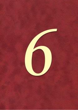 """Chiffre """"6"""" romantique (H:3.8cm L:2.5cm)"""