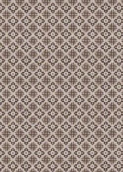 """""""Mosaïque"""" marron foncé (70x100)"""