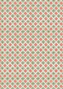"""""""Mosaïque"""" rouge et verte (70x100)"""