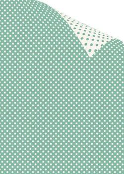 "Recto verso ""Pois ivoire fond vert jade / pois vert jade fond ivoire"" (70X100)"