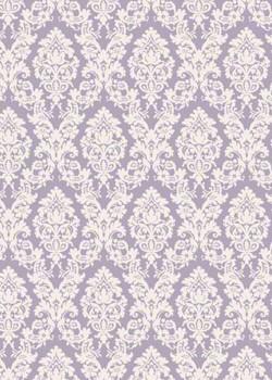 """""""Tapisserie"""" motif baroque fond parme (70x100)"""