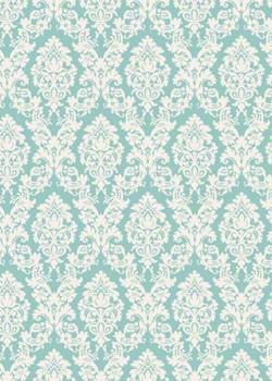 """Tapisserie"" motif baroque fond vert jade (70x100)"
