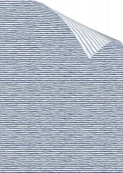 "Recto verso ""Rayure bleu foncé / rayure bleu clair"" (70x100)"