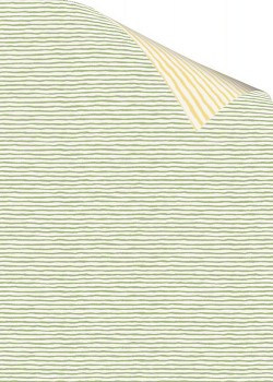 """Recto verso """"Rayure verte / rayure jaune"""" (70x100)"""