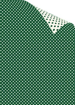 "Recto verso ""Pois ivoire fond vert / Pois vert fond ivoire"" (70x100)"