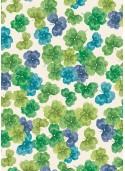 Trèfle vert turquoise violet (70x100)