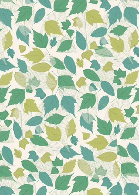 Méli mélo de feuilles acidulées menthe (70x100)