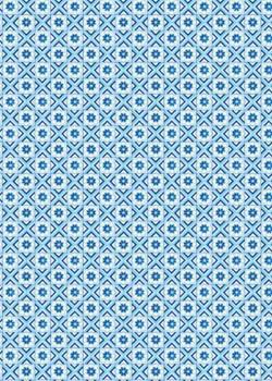 """""""Mosaïque"""" 3 tons de bleu (70x100)"""