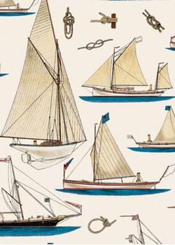 Les voiliers bruns et bleus (70x100)