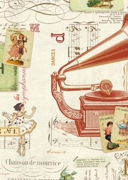 Symphonie réhaussé doré (70x100)