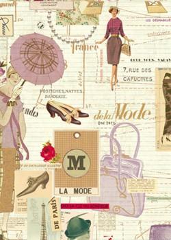 La mode de Paris et la tour Eiffel réhaussé doré (70x100)