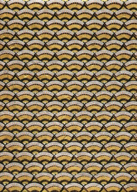 Lokta ombrelle or et argent (50x75)