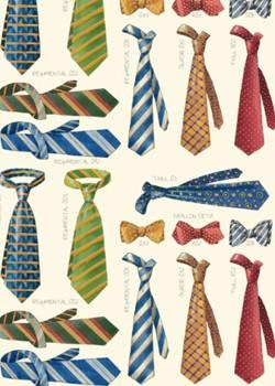 Les cravates réhaussées or (70x100)*