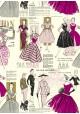 La mode parisienne ton pourpre (70x100)