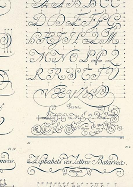 Encyclopédie Diderot bleu (70x100)