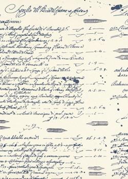 Ecriture et taches d'encre (70x100)