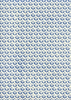 Lokta les fleurs stylisées bleues (50x75)