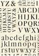 Alphabet et chiffres noirs (70x100)