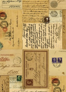 Cartes postales 2 tons marron (70x100)