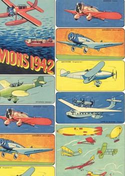 Les avions 1942 colorés (70x100)*