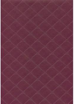 "Simili cuir ""Diamond"" aubergine grand format (70x106)"