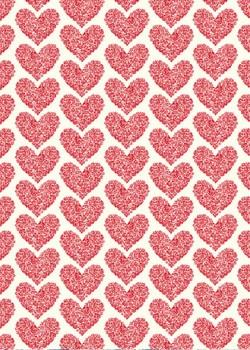 Coeurs de roses rouges (50x70)