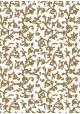Venise arabesque - roux réhaussé or (70x100)