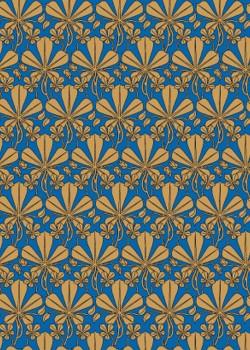 Digita doré sur fond bleu (70x100)