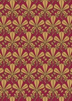 Digita doré sur fond rouge (70x100)