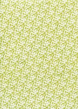Lokta les spirales fond vert tendre (50x75)