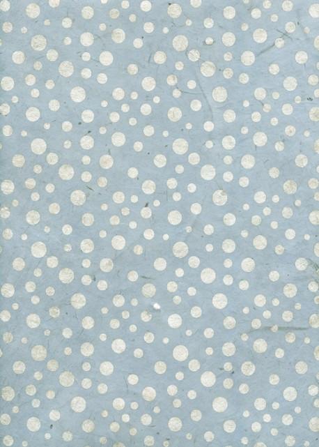 Lokta pois argent fond bleu (50x75)