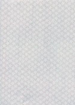 Lokta mini fleurs blanches fond violine (50x75)