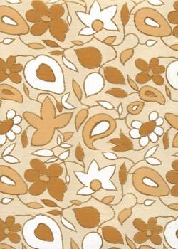 Floral beige et or (50x70)