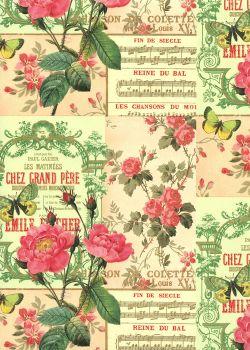 Souvenirs de guinguette réhaussés or (70x100)