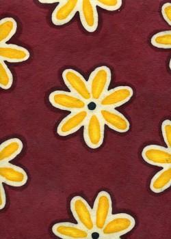 """Papier """"Batik"""" les fleurs (53x78)*"""