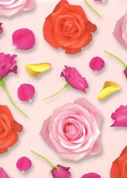 Fleurs et pétales (68x98)