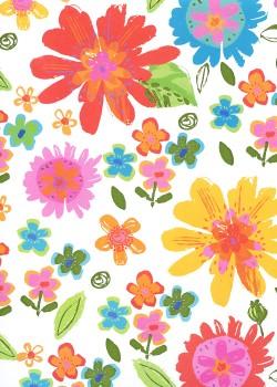 Flower métallisé vert (66x96)*