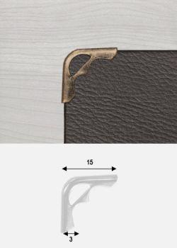 Angles mini découpés bronze (10x10mm)
