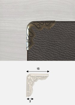 Angles embossés bronze (15x15mm)