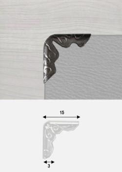 Angles embossés canon de fusil  (15x15mm)