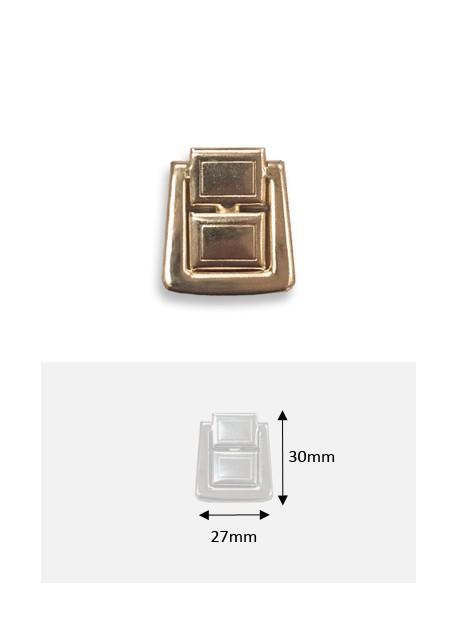 Fermoir cliquet à griffes en 2 pièces or (30x27mm)