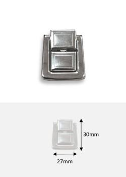 ermoir cliquet à griffes en 2 pièces argent (30x27mm)