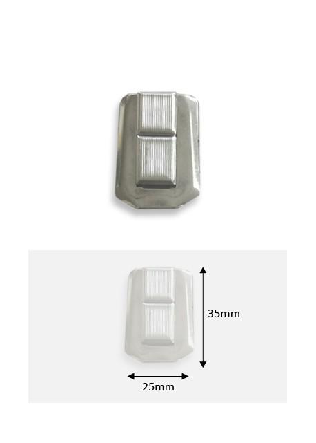 Fermoir cliquet à griffes en 2 pièces argent (35x25mm)