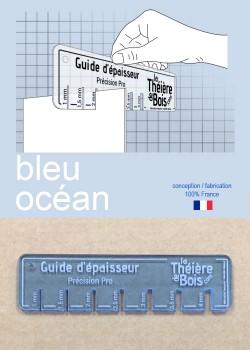 """Guide d'épaisseur """"Bleu océan"""""""