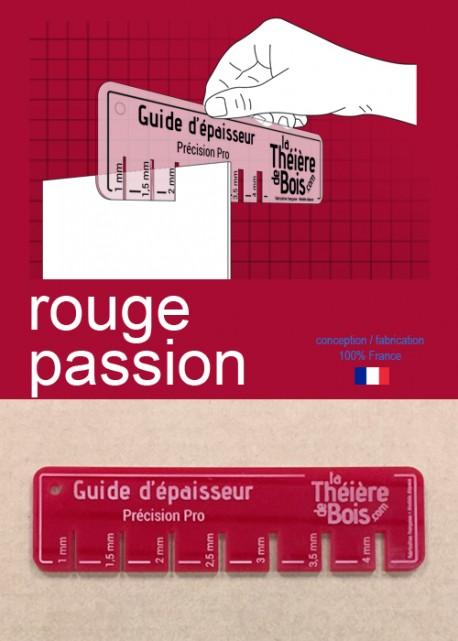 """Guide d'épaisseur """"Rouge passion"""""""