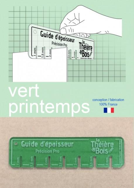 """Guide d'épaisseur """"Vert printemps"""""""