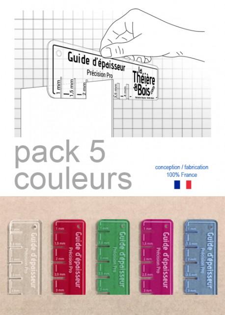 Guide d'épaisseur : Pack 5 couleurs