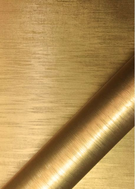 """Papier """"grain tissé"""" doré satiné (70x100)"""