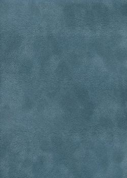 Simili cuir velours Pelage bleu pompadour (70x100)