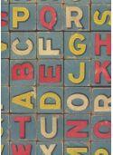 Alphabet cube ancien coloré (70x100)*